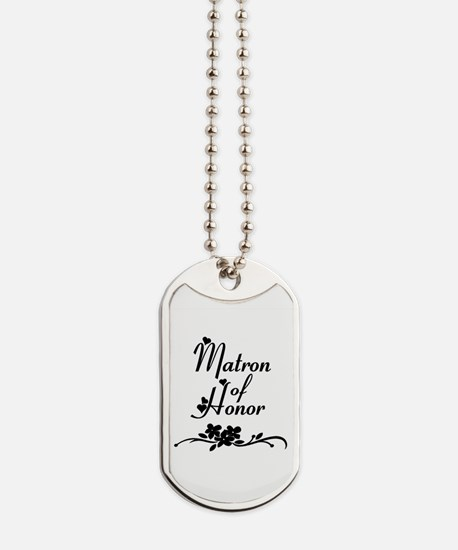 Classic Matron of Honor Dog Tags