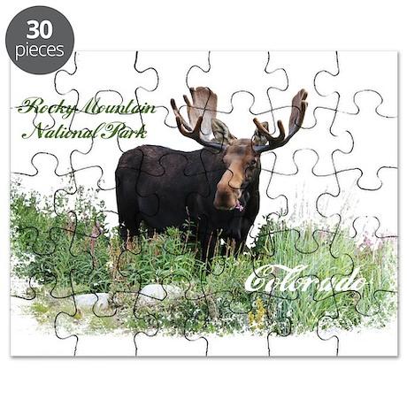 Rocky Mnt Natl Park Colo Moose Puzzle