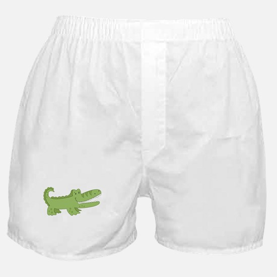 Cutest Green Alligator Boxer Shorts