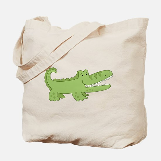 Cutest Green Alligator Tote Bag