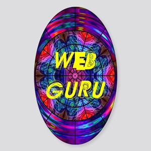 Web Guru Oval Sticker