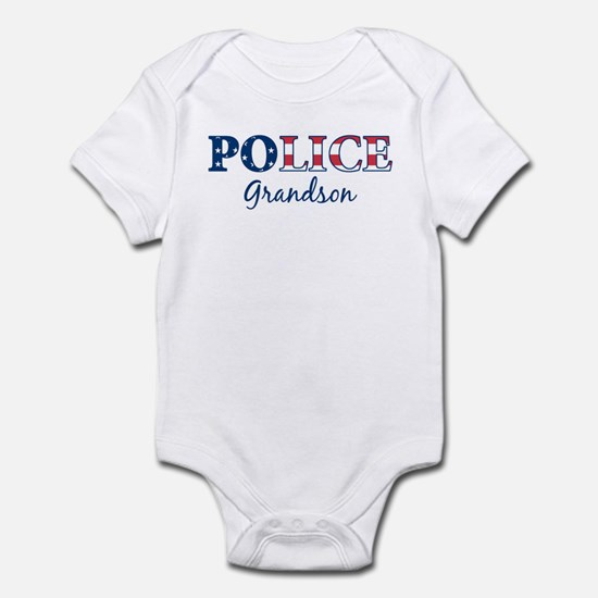 Police Grandson - patriotic Infant Bodysuit