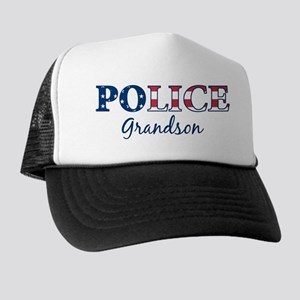 Police Grandson - patriotic Trucker Hat