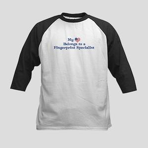My Heart: Fingerprint Special Kids Baseball Jersey