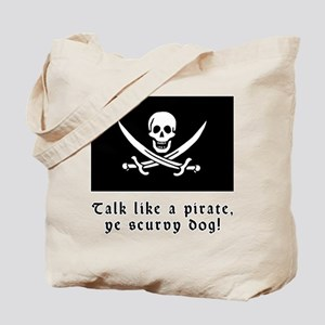 Jolly Roger Talk Like a Pirate Tote Bag