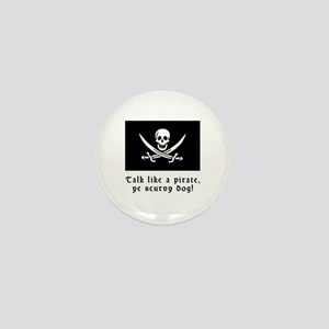 Jolly Roger Talk Like a Pirate Mini Button
