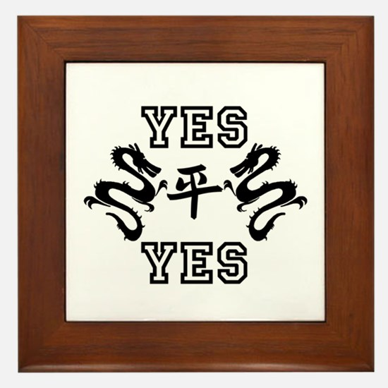 Yes Yes Framed Tile