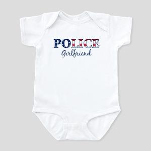 Police Girlfriend - patriotic Infant Bodysuit