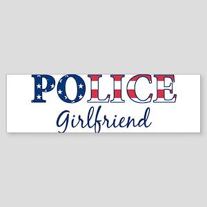 Police Girlfriend - patriotic Bumper Sticker