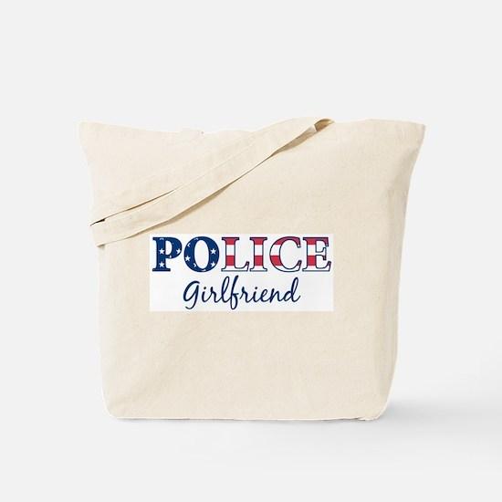 Police Girlfriend - patriotic Tote Bag