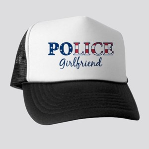 Police Girlfriend - patriotic Trucker Hat