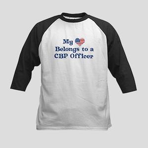 My Heart: CBP Officer Kids Baseball Jersey