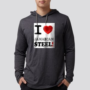 I LOVE - JAMAICAN STEEL Mens Hooded Shirt