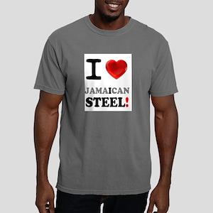 I LOVE - JAMAICAN STEEL Mens Comfort Colors Shirt