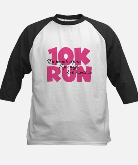 10K Run Pink Kids Baseball Jersey