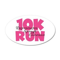 10K Run Pink Wall Sticker