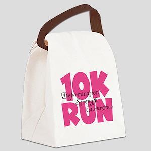 10K Run Pink Canvas Lunch Bag