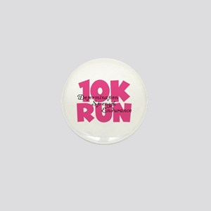 10K Run Pink Mini Button