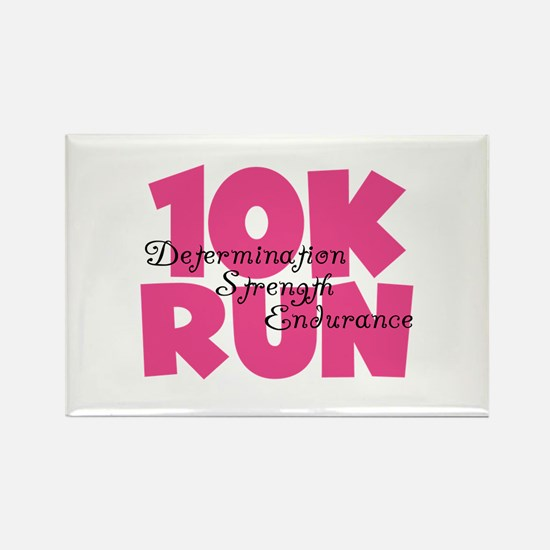 10K Run Pink Rectangle Magnet