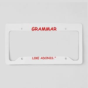 grammar License Plate Holder