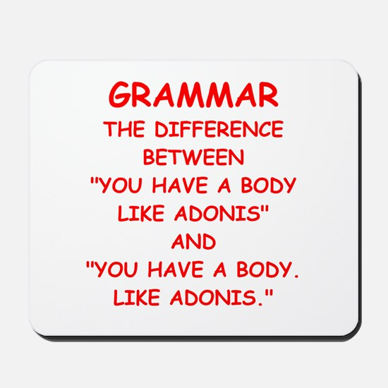 grammar Mousepad