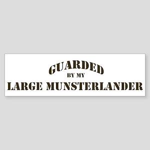 Large Munsterlander: Guarded Bumper Sticker