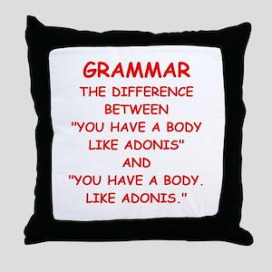 grammar Throw Pillow