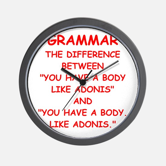 grammar Wall Clock
