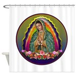 Guadalupe Circle - 1 Shower Curtain