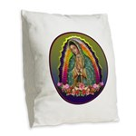 Guadalupe Circle - 1 Burlap Throw Pillow