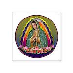 Guadalupe Circle - 1 Square Sticker 3