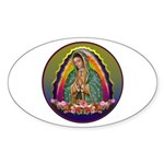 Guadalupe Circle - 1 Sticker (Oval)