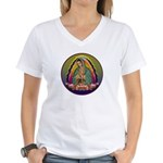 Guadalupe Circle - 1 Women's V-Neck T-Shirt