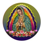 Guadalupe Circle - 1 Round Car Magnet