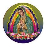 Guadalupe Circle - 1 Round Car Magnet