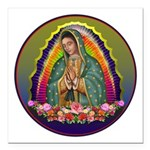 Guadalupe Circle - 1 Square Car Magnet 3
