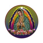 Guadalupe Circle - 1 Ornament (Round)