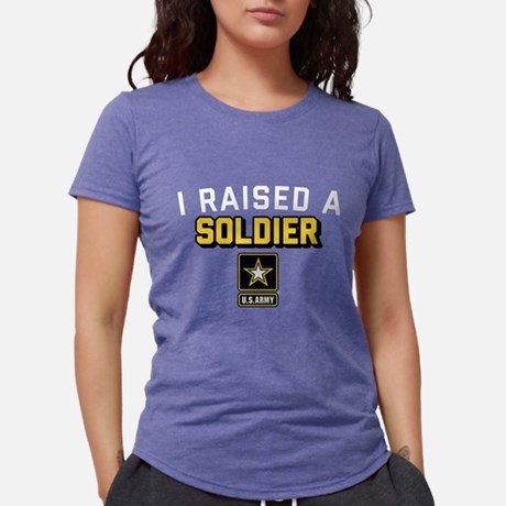U.S. Army I Raised A Soldier Tri-Blend Shirt