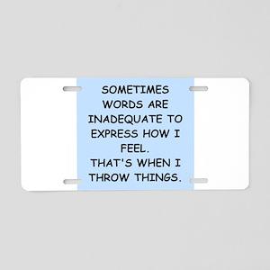 feelings Aluminum License Plate