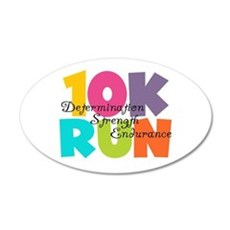 10K Run Multi-Colors Wall Sticker
