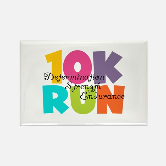 10K Run Multi-Colors Rectangle Magnet