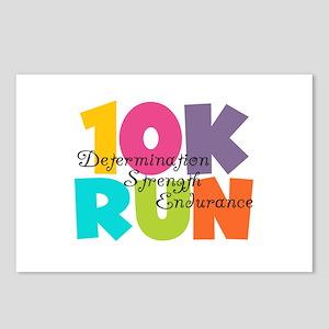 10K Run Multi-Colors Postcards (Package of 8)