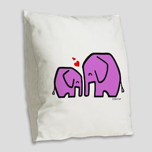 Kiiri & Kiiri (2) Burlap Throw Pillow