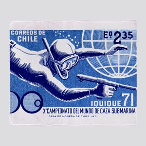 1971 Chile Spearfishing Championship Postage Stamp
