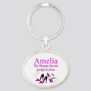 TOP THERAPIST Oval Keychain