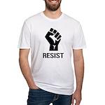 Resist Fist Liberal Politics Fitted T-Shirt