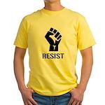 Resist Fist Liberal Politics Yellow T-Shirt