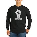 Resist Fist Liberal Polit Long Sleeve Dark T-Shirt