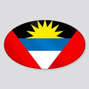 Antigua and Barbuda Flag Sticker (Oval)