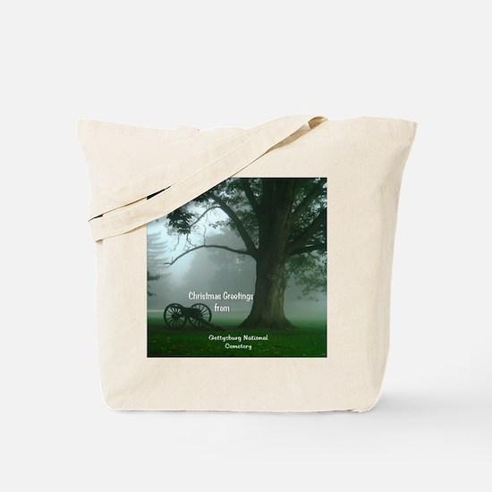 Gettysburg Natl Cemetery Christmas Tote Bag